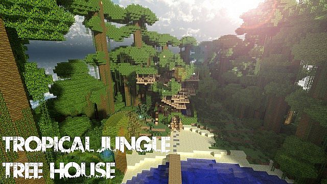Tropical Jungle Tree House Minecraft Project - Modern house jungle