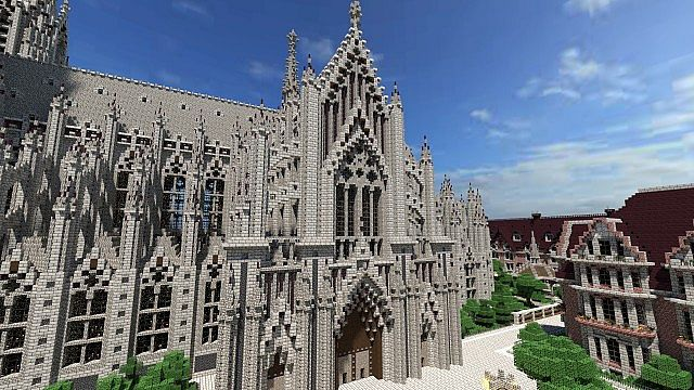 Cologne cathedral vitruvian city minecraft project for Meuble chateau fort tunisie