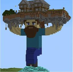 Steve Holding A House Minecraft Map & Project