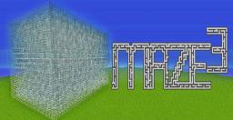Maze³ Minecraft Map & Project