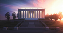 The Lincoln Memorial, Washington D.C. | 1.5:1 Minecraft Map & Project