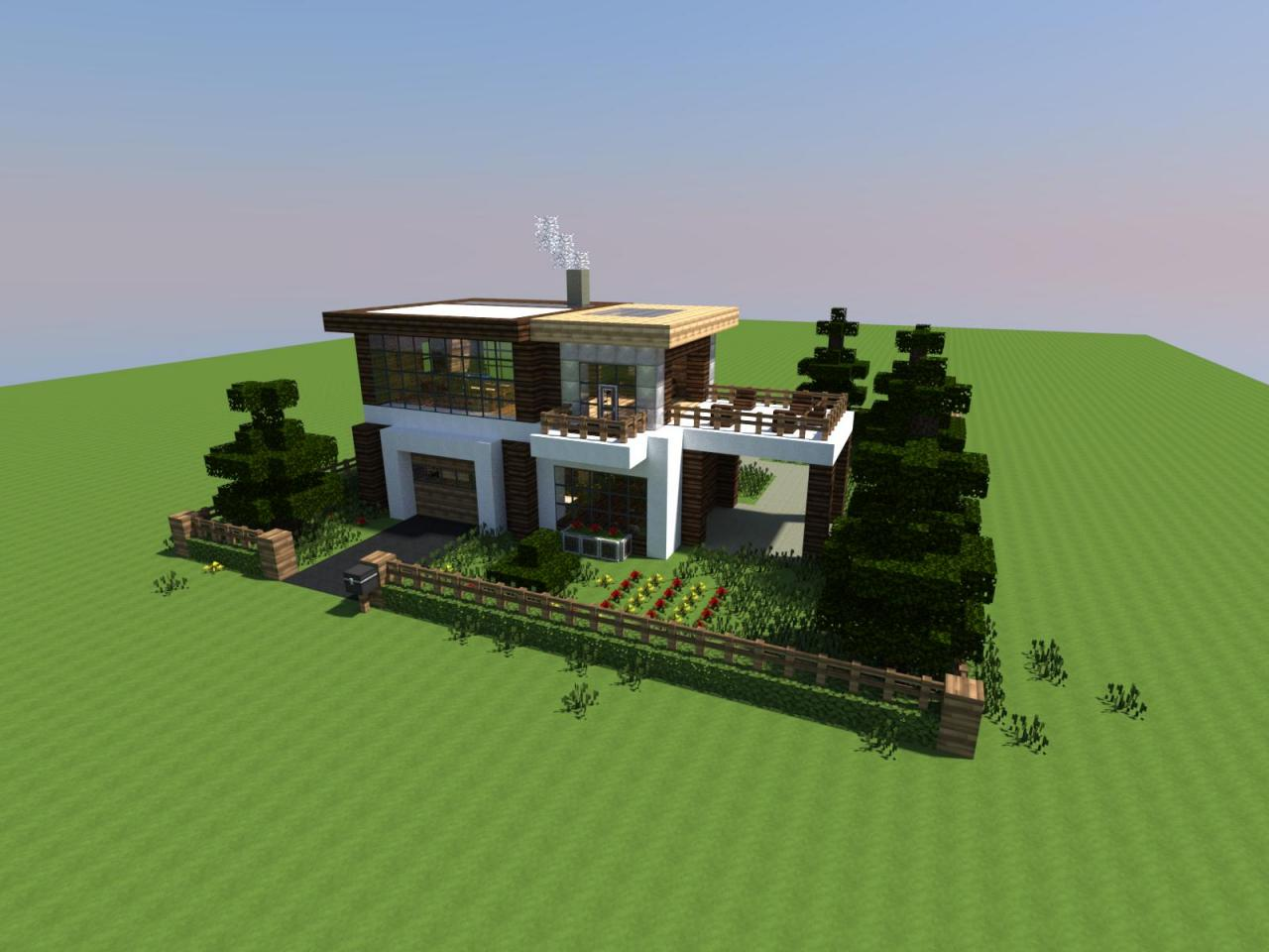 Tweet - Modern house minecraft ...