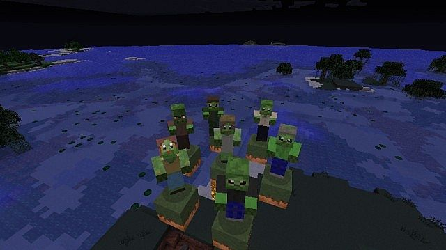 Optifine allows zombies to have 7 skins.