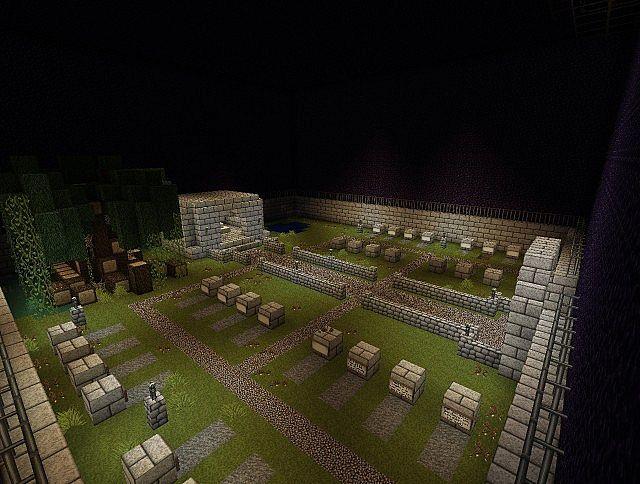 Graveyard themed mob arena