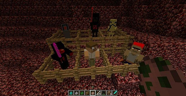 Changed Mobs, Gonk Droid, Darth Vader, Battledroid, Sith, Random Person, Pirate