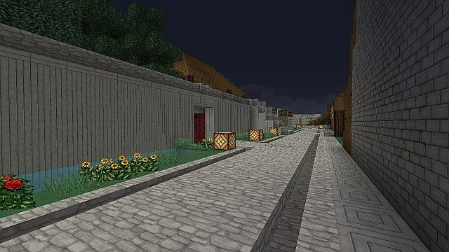 Pathways to shops