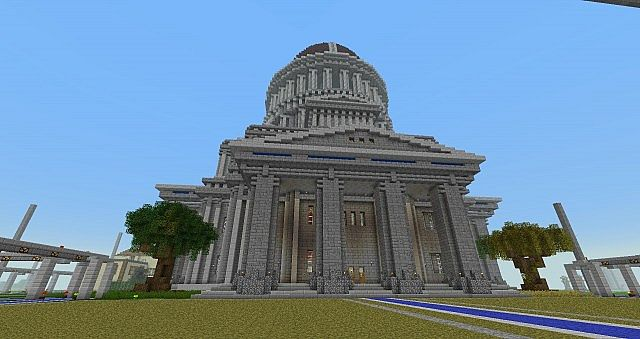 how to build a town hall in minecraft