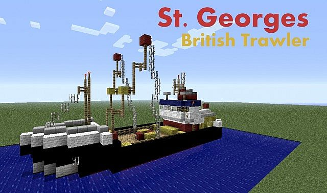 Real British Trawler Fishing Boat - St Georges Minecraft ...