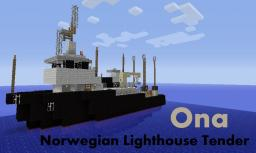 Norwegian Buoy and Lighthouse Maintenance Vessel - 'Ona' (REAL SHIP) Minecraft Map & Project