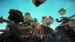 SteamPunk Fly Islands Minecraft Project