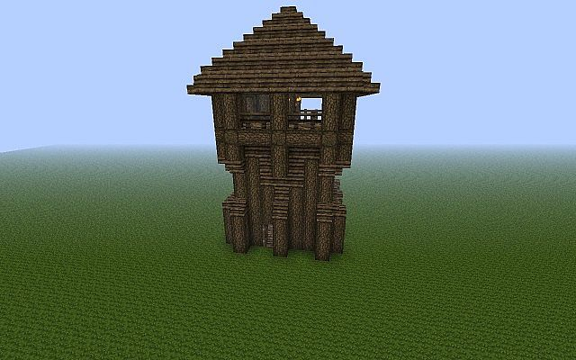 how to make a wooden post minecraft