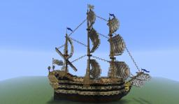 French warship Minecraft Map & Project