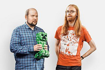 Notch And Jeb In Time Magazine Minecraft Blog