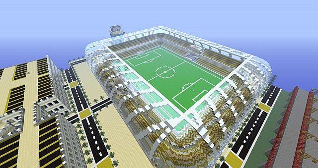The soccer stadium