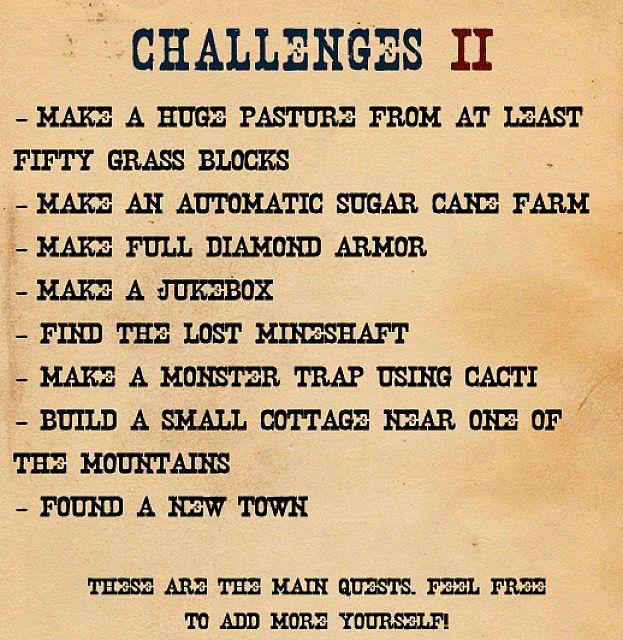 Challenges part 2