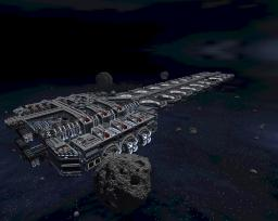 Galactic Seeder Ship (over 2 million blocks, 1.6km long) Minecraft