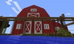 Farm For all Animals, Including Horses and Donkeys. Minecraft