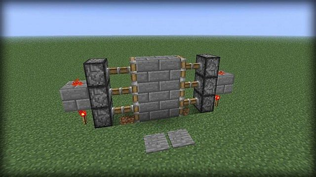How To Build A Sliding Wall In Minecraft