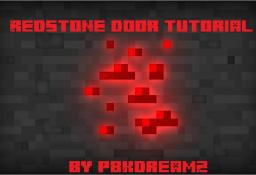 Redstone Door Tutorial Minecraft Blog Post