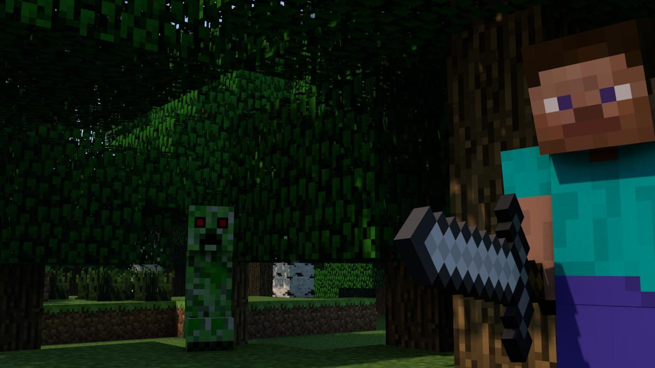 Steve and creeper minecraft desktop poster download 1920x1080 and 1080x720 minecraft blog - Minecraft creeper and steve ...