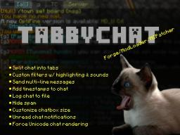 [1.6.4] TabbyChat - SMP Chat Overhaul Minecraft