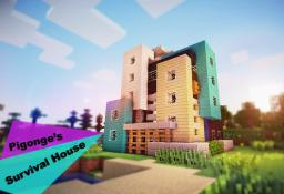 Pigonge's Contemporary Survival Starter House 02 Minecraft Map & Project