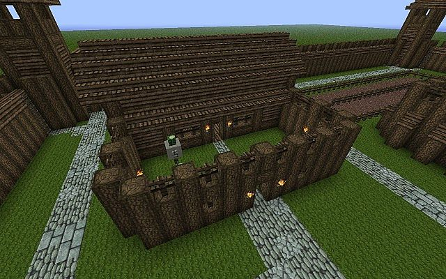 Wooden Castle Minecraft Project