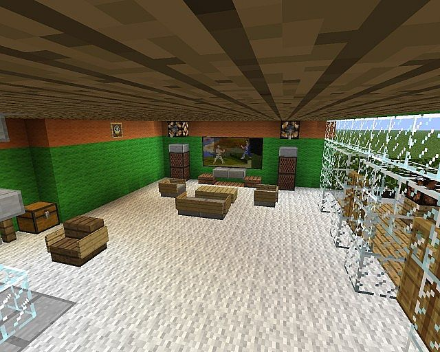 Haus porkchop media einrichtung minecraft project - Minecraft wohnzimmer ...