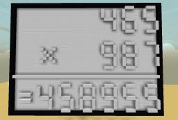 Advanced Calculator (pop reel!) [+,-,x,0-999] -by Drakonslof Minecraft Map & Project