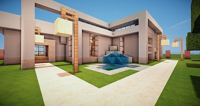 Fancy modern house minecraft project for Modern house projects