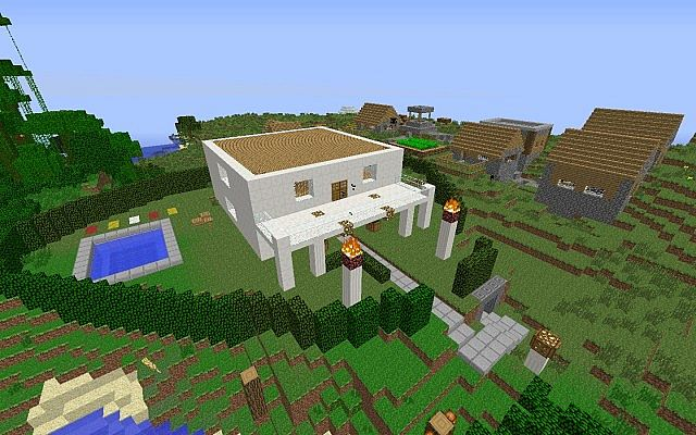 Casa moderna minecraft project for Casa moderna madera minecraft