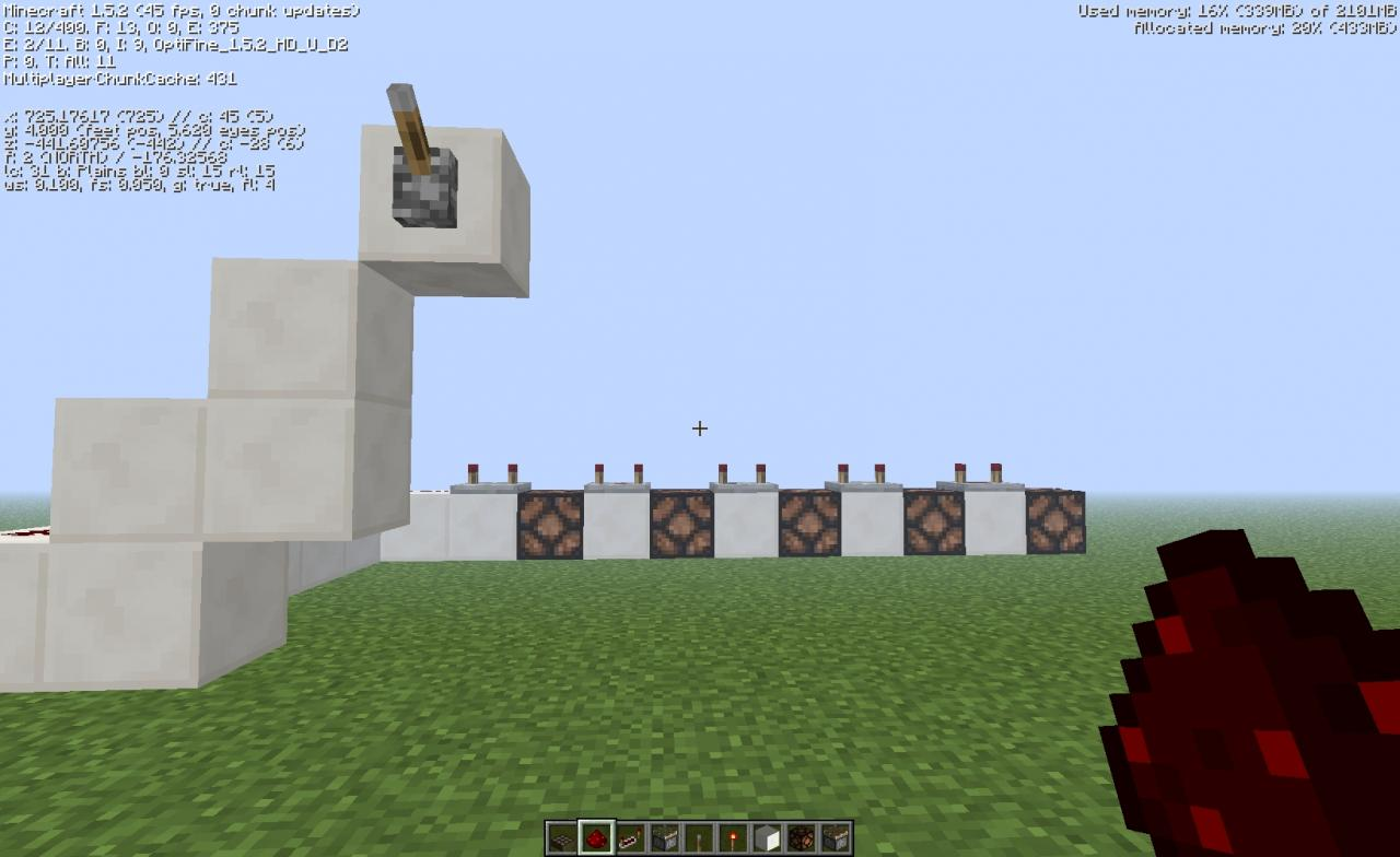 how to get a pulse off of a redstone block