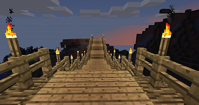How To Make A Wood Bridge In Minecraft