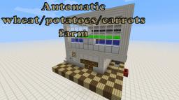 Automatic wheat farm (compatible with carrots and potatoes) Minecraft Project
