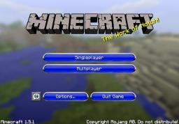 Changed GUI - Blue Minecraft Texture Pack