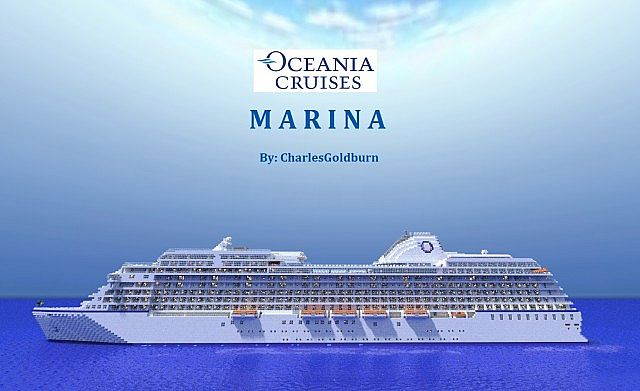 Marina-Real Cruise Ship 1:1 Scale! Minecraft Project