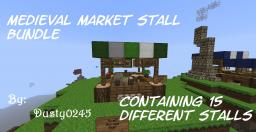 Dusty's Medieval Market Stall Bundle [Contains 15 Different Stalls] Minecraft Project