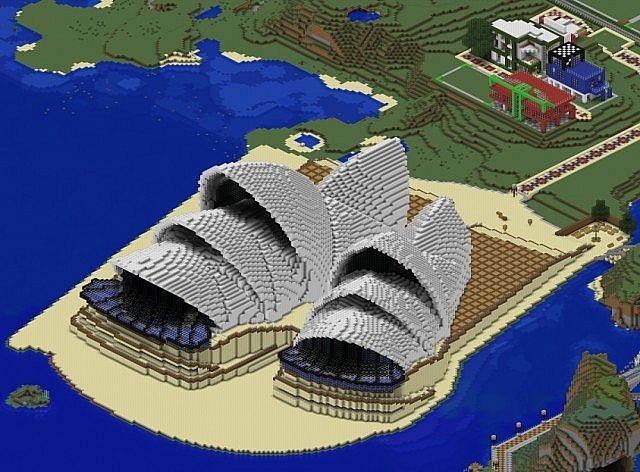 Sydney Opera House Interrior Minecraft Project