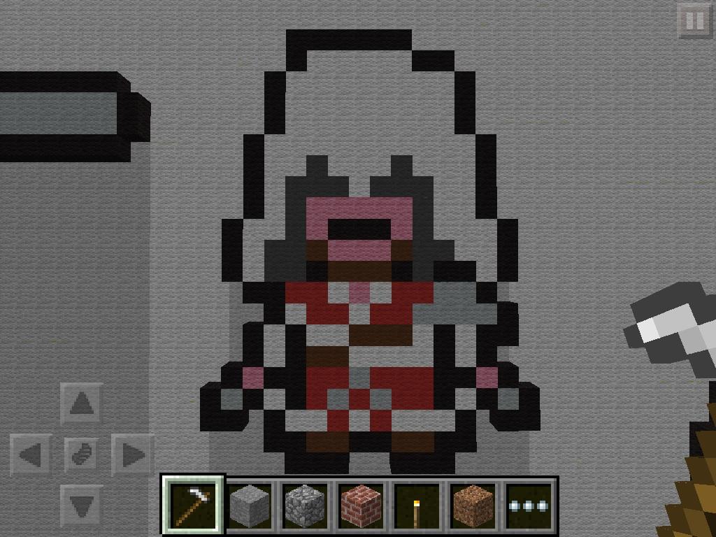 assassins creed pixel art minecraft project