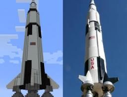 Saturn V to scale Schematic Minecraft Map & Project