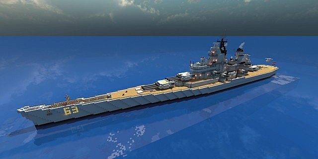 Battleship Uss Missouri Bb63 Minecraft Project