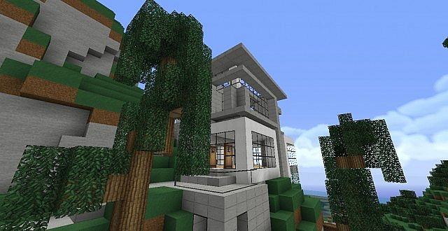 Modern Hillside House Minecraft Project