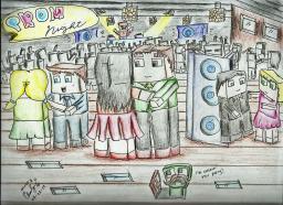 Prom Night -  Minecraft Art Doodle Minecraft Blog
