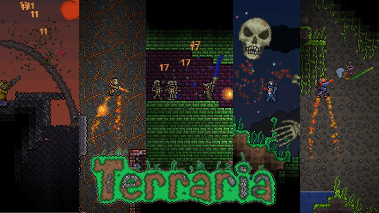 Minecraft Terraria Craft Mod