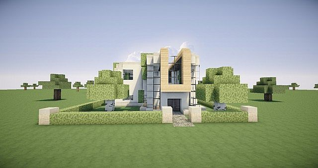 Casa moderna sencilla minecraft project for Casa moderna 2 minecraft