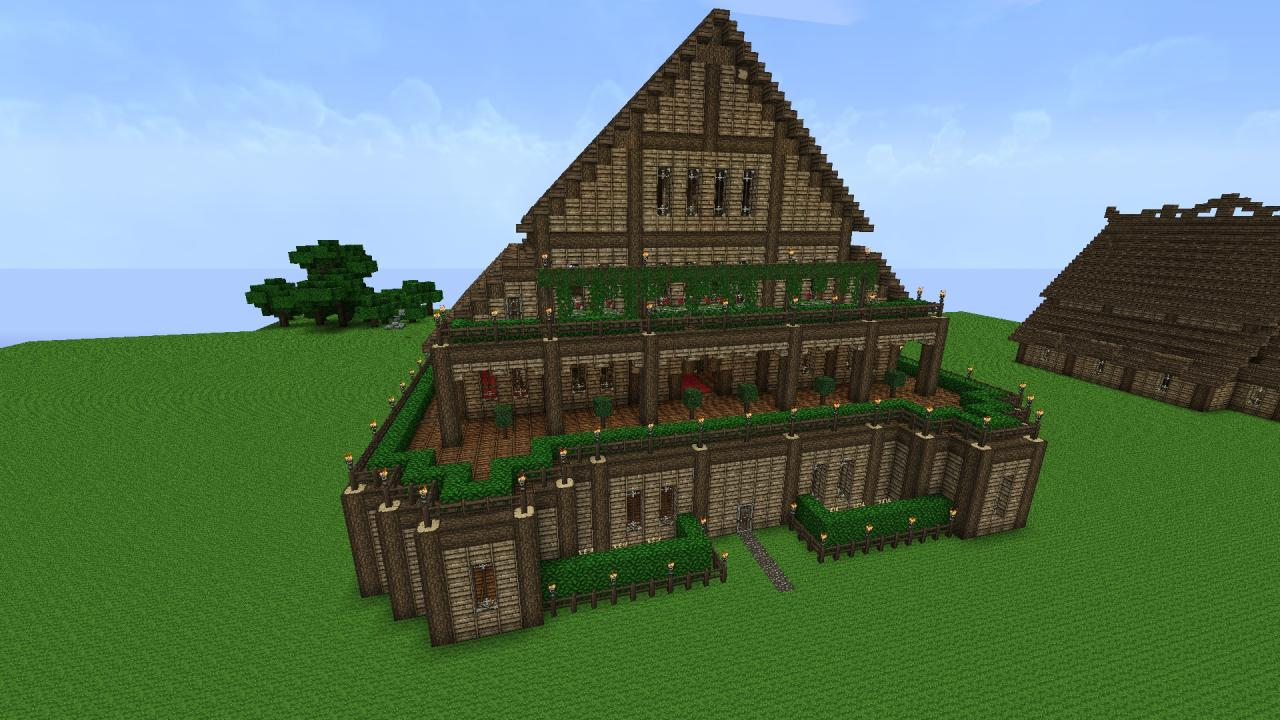 Big Houses On Minecraft Hot Girls Wallpaper