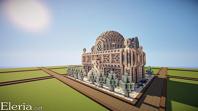 Small Ice/Quartz Mansion Minecraft Project