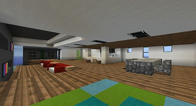 Oceanic modern house minecraft project for Modern house projects