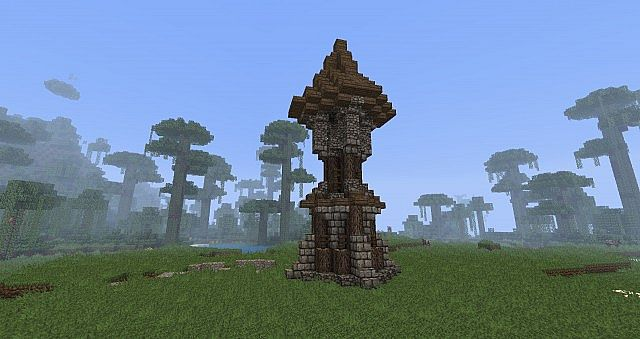 Rustic Medieval Watchtower Minecraft Project
