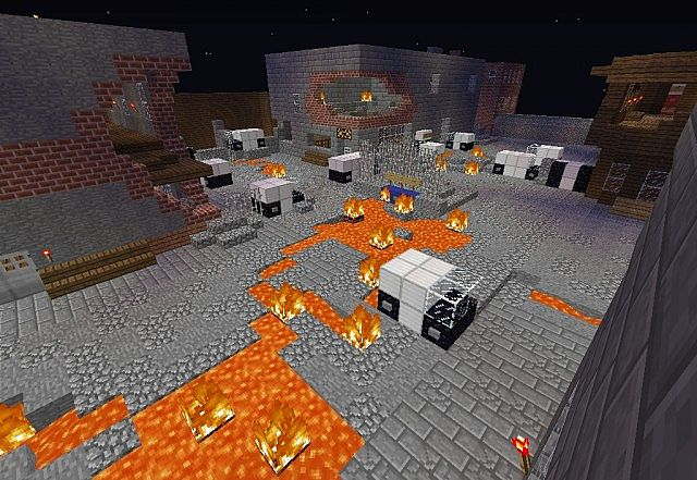 Call of Duty: Black Ops II Zombies Town Minecraft Project